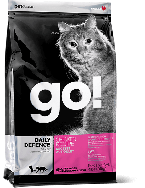 bag of GO! chicken recipe for cats
