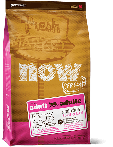 bag of NOW FRESH adult cat food